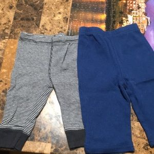 Two pairs of 3 month pants